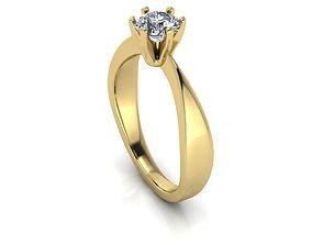 Diamonds Solitaire Ring 070ct Engagement 3D print model