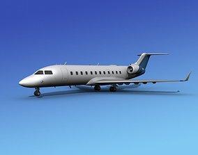 3D Canadair CRJ100 Corporate 2