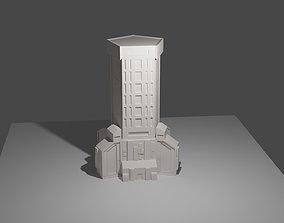3d printed battletech office towers