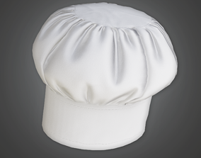 HAT - Chef Hat - PBR Game Ready 3D asset