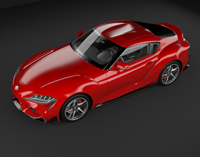 Toyota Supra 2019 3D MODEL rigged