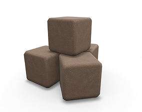 3D model VR / AR ready Leather Cubes SHC Quick Office LM