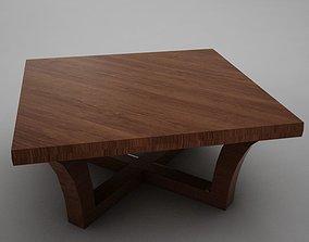 3D asset Modern wood coffe table