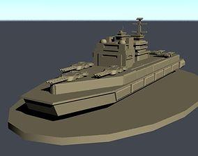Sci-Fi Warship for tabletop wargames 3D printable model