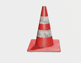 game-ready Traffic cone 3D