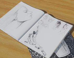 Drawing Book for Blender 3D asset