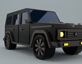 game-ready Low-Poly car prototype G-class game ready 3D
