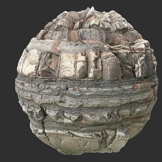 rock cliff seamless pbr texture