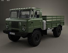 3D GAZ 66 Flatbed Truck 1964