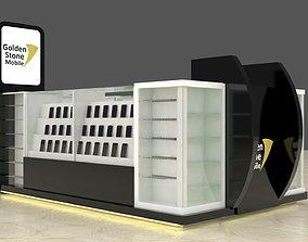 3D model Mobile Kiosk shop
