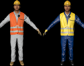 3D asset low-poly Worker
