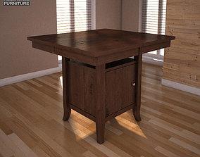3D asset Ashley Lynx Extension Pub Table