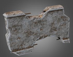 3D asset realtime Modular Wall 06 Pbr - Pbr Game Ready