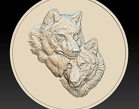 Wolves Coin - relief - 2020 3D printable model