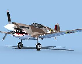 Curtiss P-40F Tomahawk V04 RAF 3D