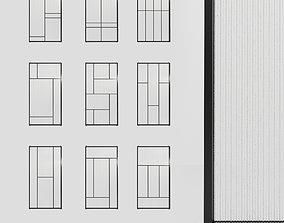 Glass partition door Set 9 partition models