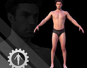3D asset game-ready Male Scan - Dan RIGGED