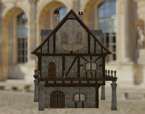 Two Storied Medieval House 3D asset