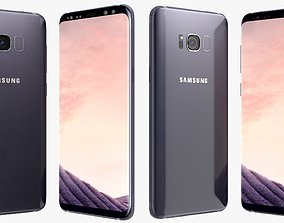 Samsung Galaxy S8 Orchid Gray 3D model electronic