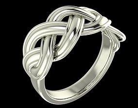 3D print model rings Woven ring