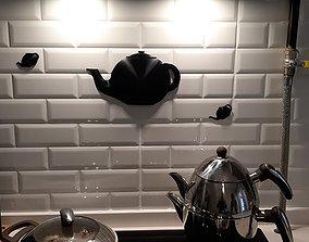 3D Dome Teapot silueth for kitchen