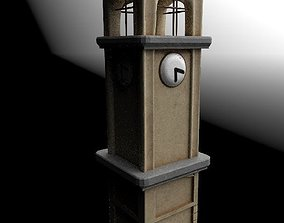 3D model VR / AR ready clock tower