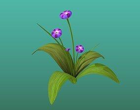 Violet Flowers 3D asset realtime