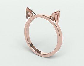 Ringmodel143-Cat Ears Ring gold