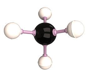 3D asset Methane Molecule