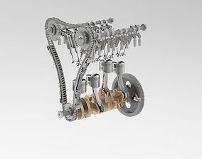 Crankshaft piston movement 3D