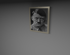 Hitler wall frame 3D asset VR / AR ready
