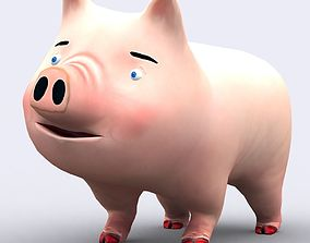 animated 3DRT - toonpets animals Pig
