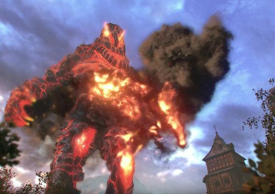 Fire Elemental Fantasy Creature Simulation Test