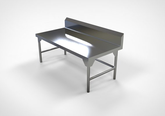 stainless steel kitchen low table 1400cm x 650cmx 600