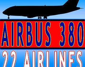 3D 22 Airline Jet Textures
