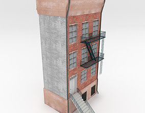 downtown 3D model game-ready Apartment Building