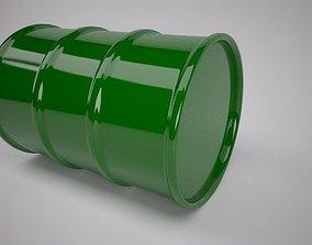 Green Oil Barrel 3D model