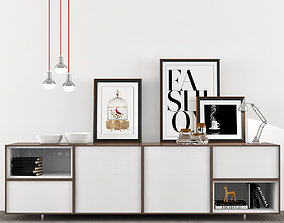 panel Moderno Muebles Auxiliares 3D