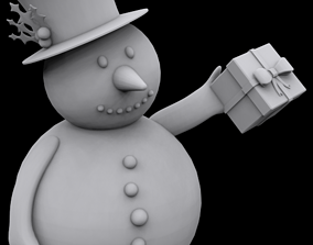 Snowman gift ornament 3D print model