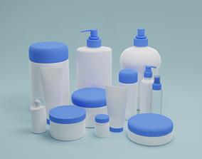 3D Cosmetics Skincare mock up