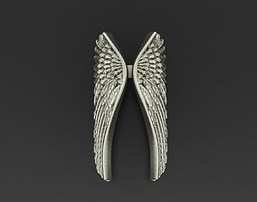 3D print model fashion Angel wings ring