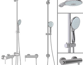 3D model Shower System Grohe Euphoria Power Soul System 1