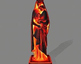 3D model low-poly Woman Statue