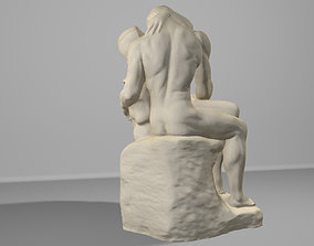 3D rodin the kiss