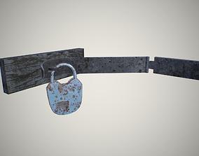 Padlock 3D asset low-poly