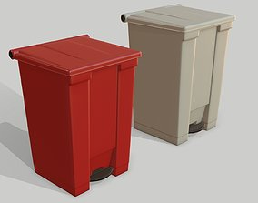 bio Waste Can Bio Hazardous medical bin 3D