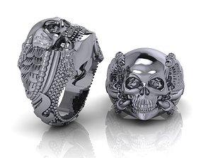 3D printable model men rings 08