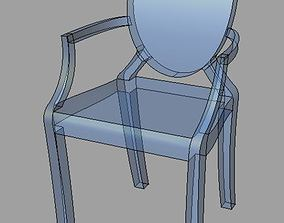 ghost Chair P Starck 3D