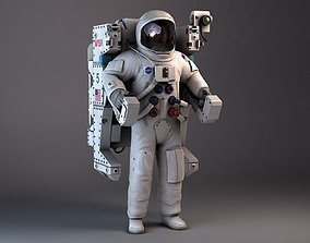 3D NASA MMU Astronaut with backpack