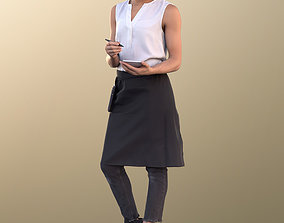 3D model Diana 10888 - Female Waitress Taking Order